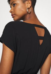 TOM TAILOR DENIM - OVERCUT SHOULDER DRESS - Korte jurk - deep black - 5