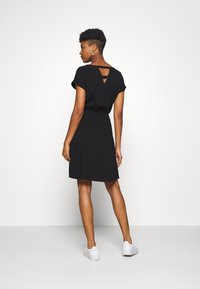 TOM TAILOR DENIM - OVERCUT SHOULDER DRESS - Korte jurk - deep black - 2