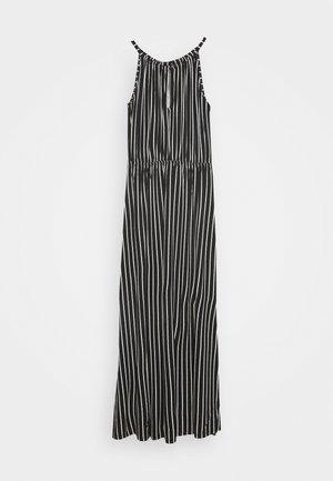 STRIPED NECKHOLDER DRESS - Jerseyjurk - black/white