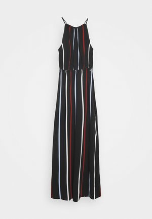 TROPICAL  - Maxi-jurk - black/blue/rust