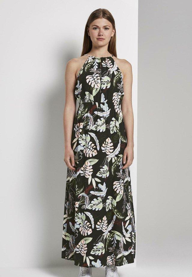 TROPICAL  - Vestido largo - black tropical print