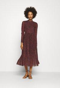 TOM TAILOR DENIM - PRINTED DRESS - Day dress - black/rust - 1
