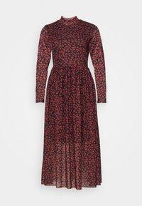 TOM TAILOR DENIM - PRINTED DRESS - Day dress - black/rust - 4
