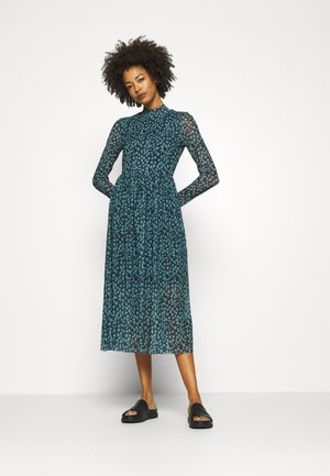 PRINTED DRESS - Day dress - navy/mint