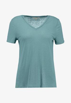EASY V NECK TEE - T-shirt basic - mineral stone blue