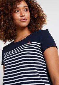 TOM TAILOR DENIM - STRIPE SLUB TEE - T-shirt z nadrukiem - sky captain blue - 3