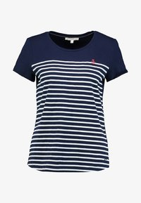 TOM TAILOR DENIM - STRIPE SLUB TEE - T-shirt z nadrukiem - sky captain blue - 5