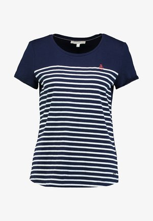 STRIPE SLUB TEE - Camiseta estampada - sky captain blue