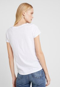 TOM TAILOR DENIM - SLUB PRINT TEE - T-shirt print - white - 2