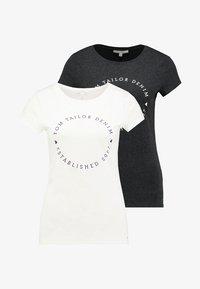 TOM TAILOR DENIM - 2 PACK - T-shirt z nadrukiem - shale grey melange - 5