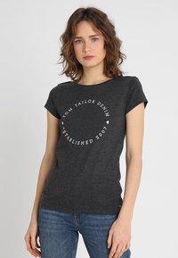 TOM TAILOR DENIM - 2 PACK - T-shirt z nadrukiem - shale grey melange - 3