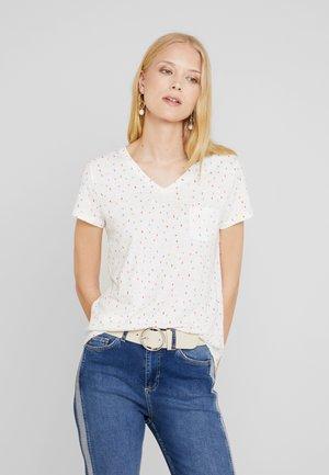 PRINTED SLUB TEE - T-shirt con stampa - white/multicolor
