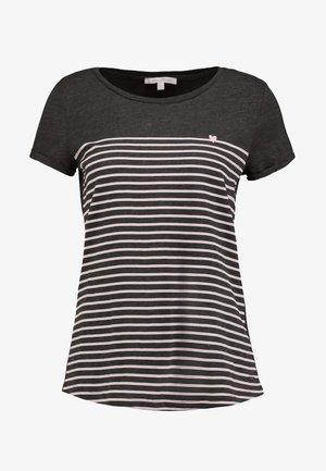 PRINTED STRIPE TEE - T-shirt z nadrukiem - dark grey/rose