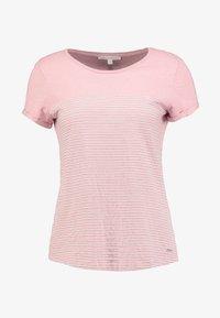 TOM TAILOR DENIM - PRINTED STRIPE TEE - T-shirt med print - rose/white - 3