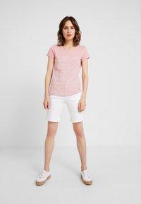 TOM TAILOR DENIM - PRINTED STRIPE TEE - T-shirt med print - rose/white - 1
