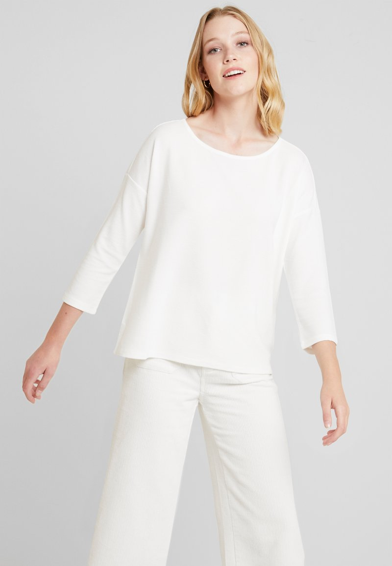 TOM TAILOR DENIM - LONGSLEEVE WITH BOW AT BACK - Long sleeved top - off white