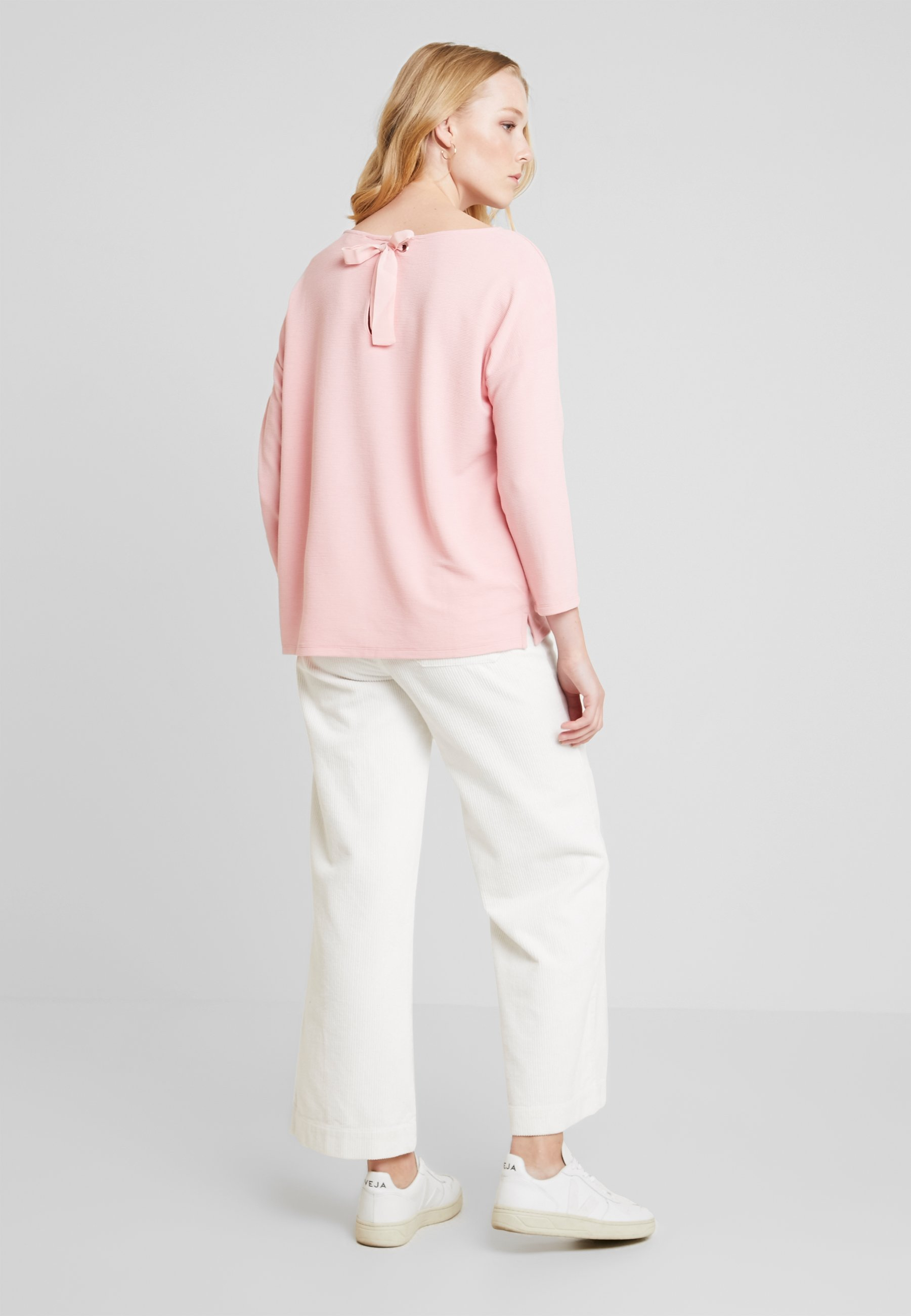 Bow Flower With At Tailor BackT shirt Tom Denim Pink Dusky Manches À Longues Longsleeve 5qLAR34j