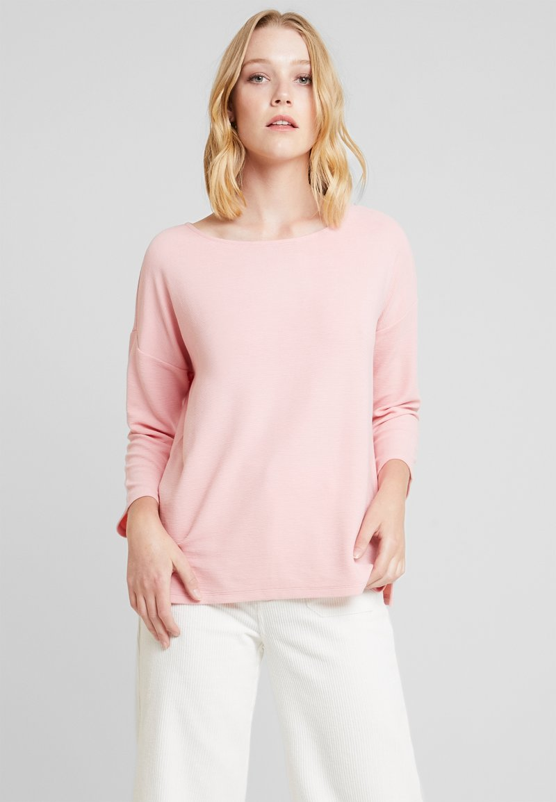 TOM TAILOR DENIM - LONGSLEEVE WITH BOW AT BACK - Long sleeved top - dusky flower pink