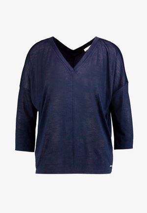 LOOSE BATWING - Pitkähihainen paita - real navy blue