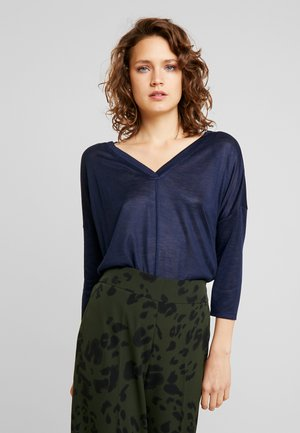 LOOSE BATWING - Long sleeved top - real navy blue