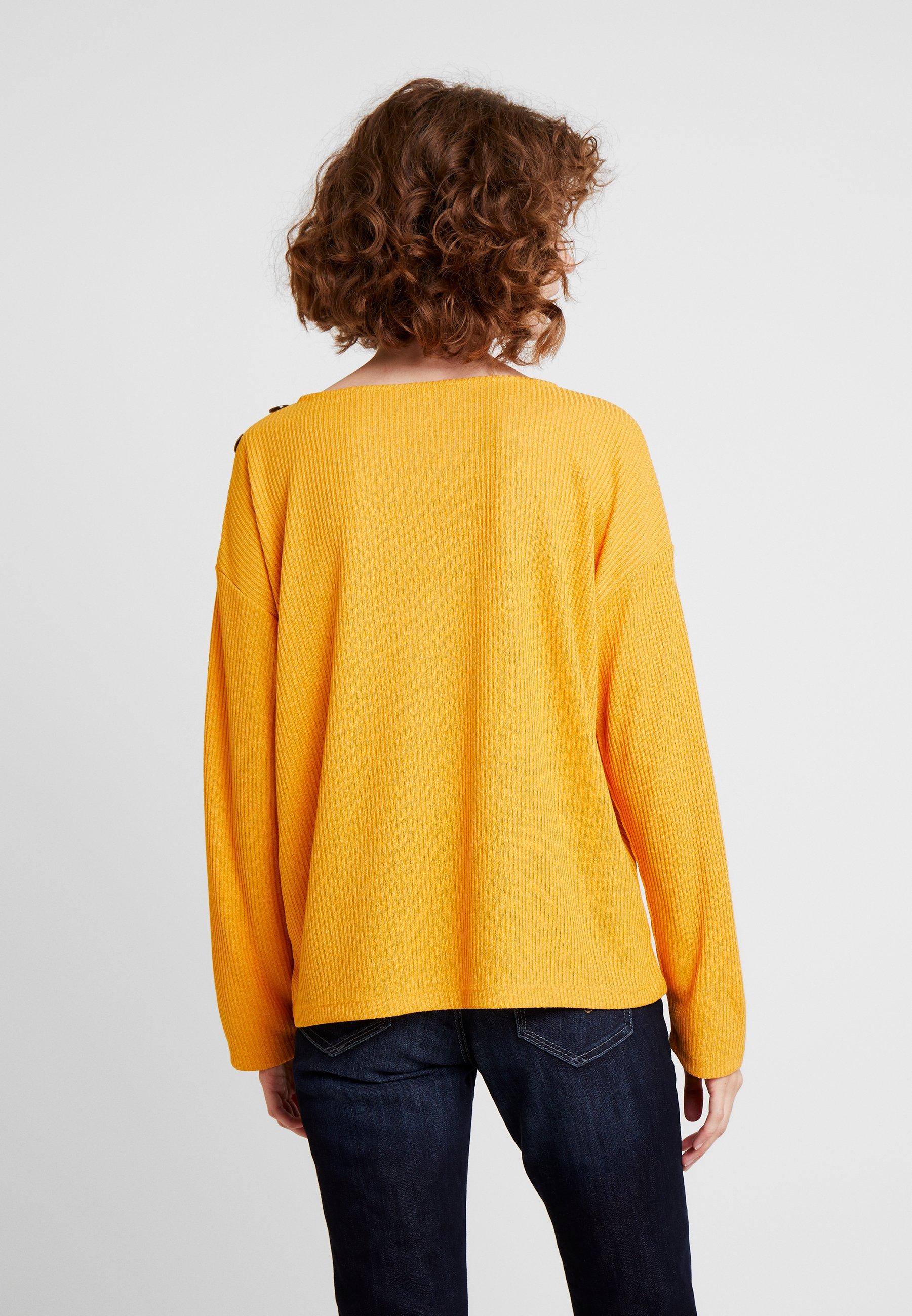 TOM TAILOR DENIM BOXY - Langarmshirt sunflower yellow