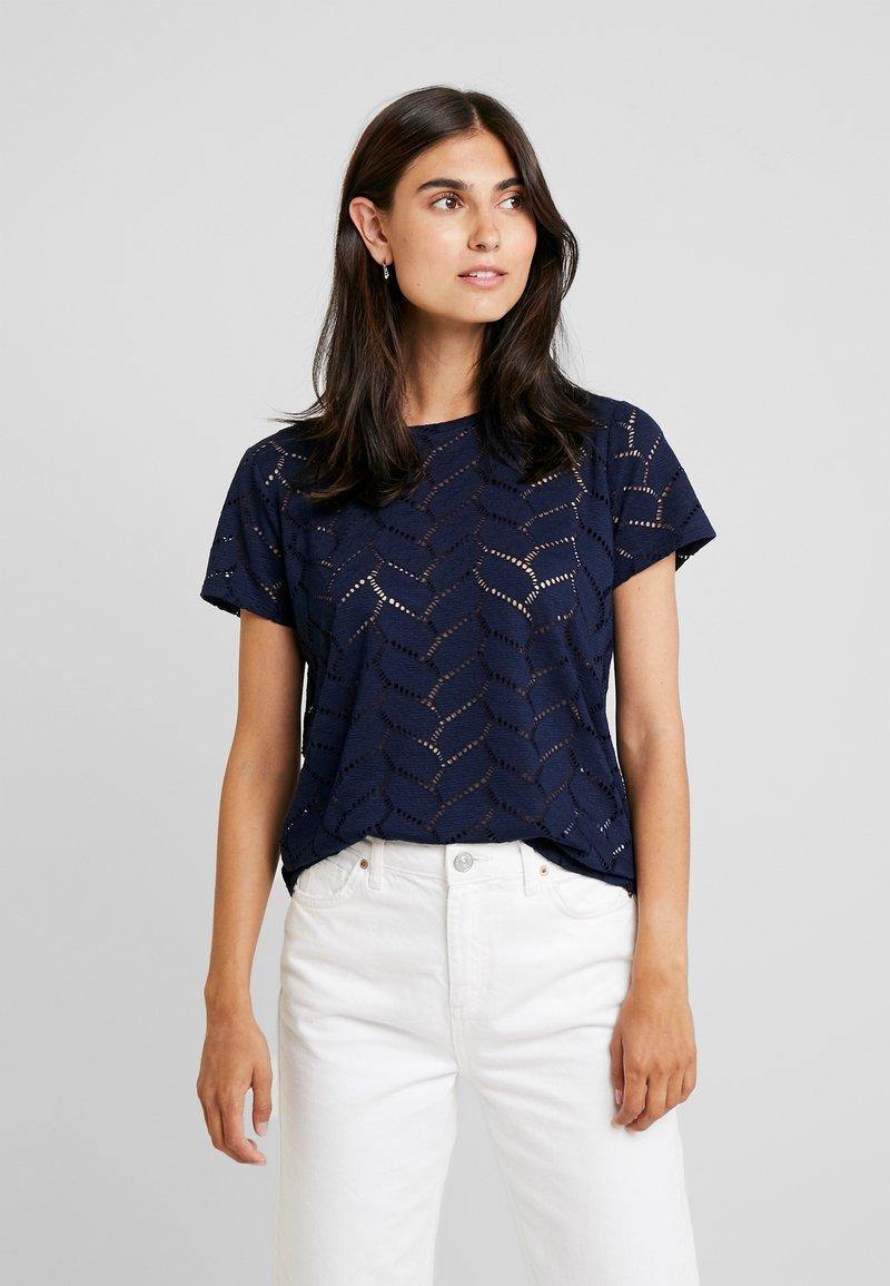 TOM TAILOR DENIM - SOFT TEE - Camiseta estampada - real navy blue
