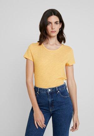 T-shirt imprimé - yellow/white