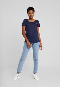 TOM TAILOR DENIM - TEE WITH PRINT - T-shirt print - real navy blue - 1