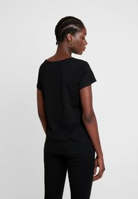 TOM TAILOR DENIM - V NECK TEE WITH STRAPS - T-shirt basic - deep black - 2