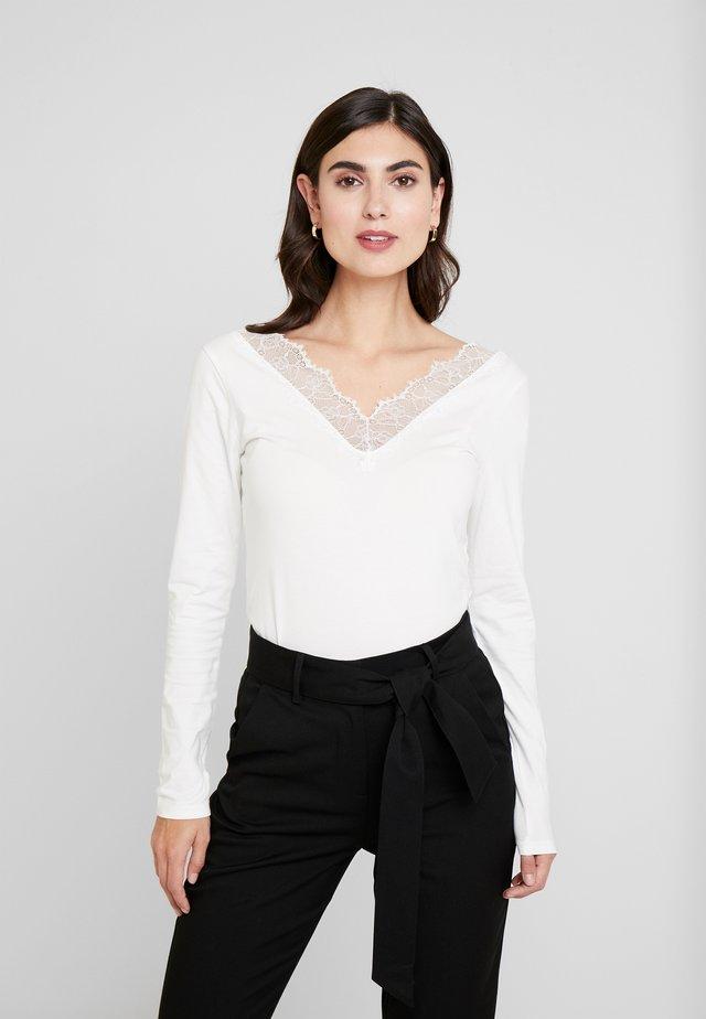 LONGSLEEVE TEE WITH TAPE - Pitkähihainen paita - off white