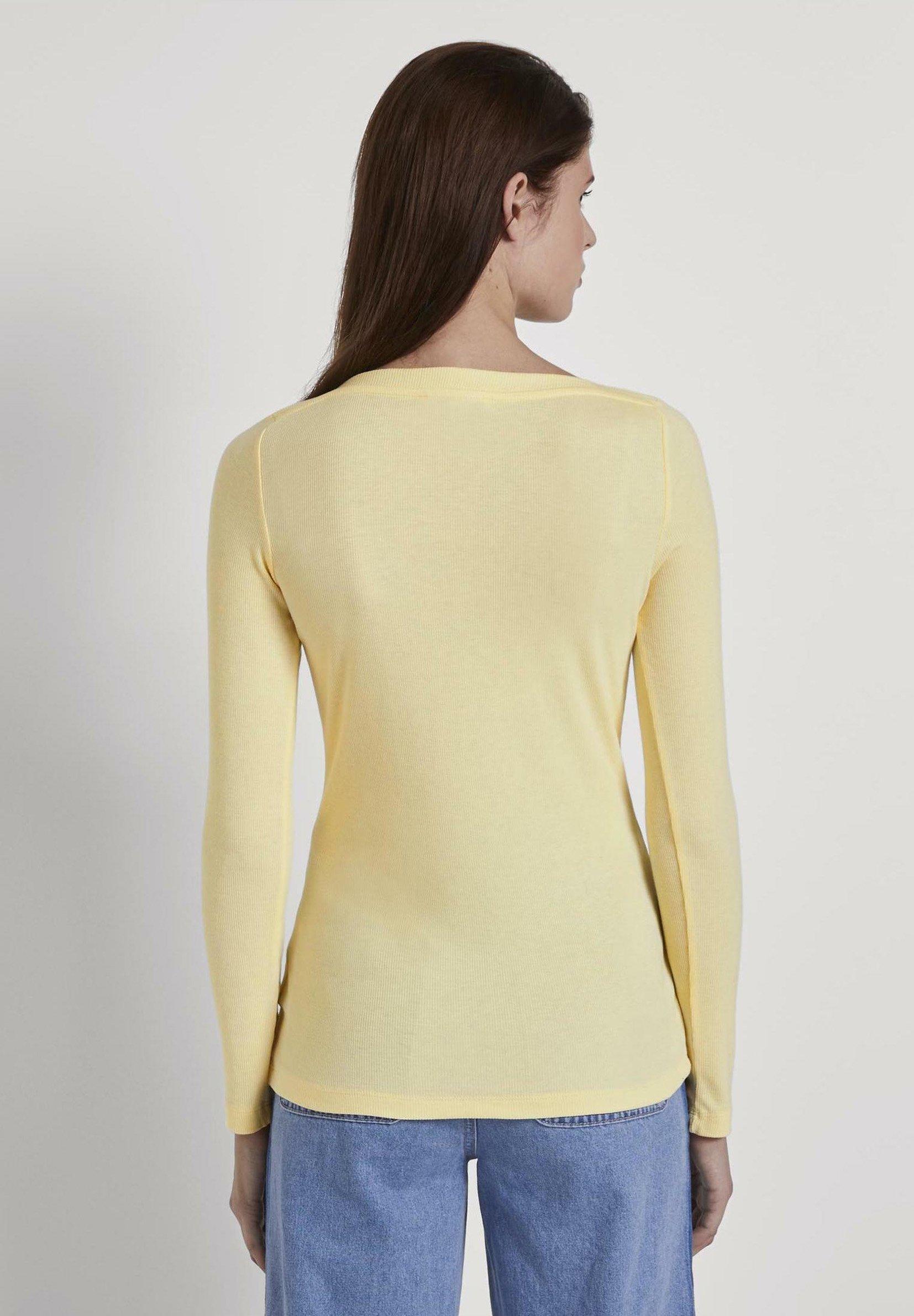 Tom Tailor Denim Basic - Long Sleeved Top Pale Yellow