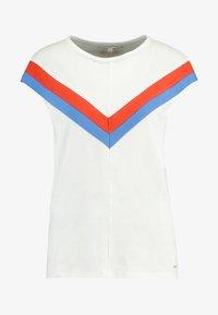 TOM TAILOR DENIM - COLOURBLOCK TEE - T-shirt z nadrukiem - off white - 5