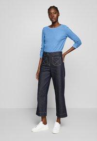 TOM TAILOR DENIM - WAFFLE STRUCTURED  - Sweter - water sport blue - 1