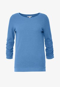 TOM TAILOR DENIM - WAFFLE STRUCTURED  - Sweter - water sport blue - 4