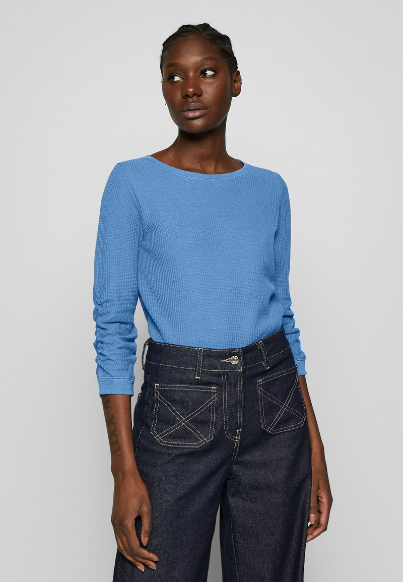 TOM TAILOR DENIM - WAFFLE STRUCTURED  - Sweter - water sport blue