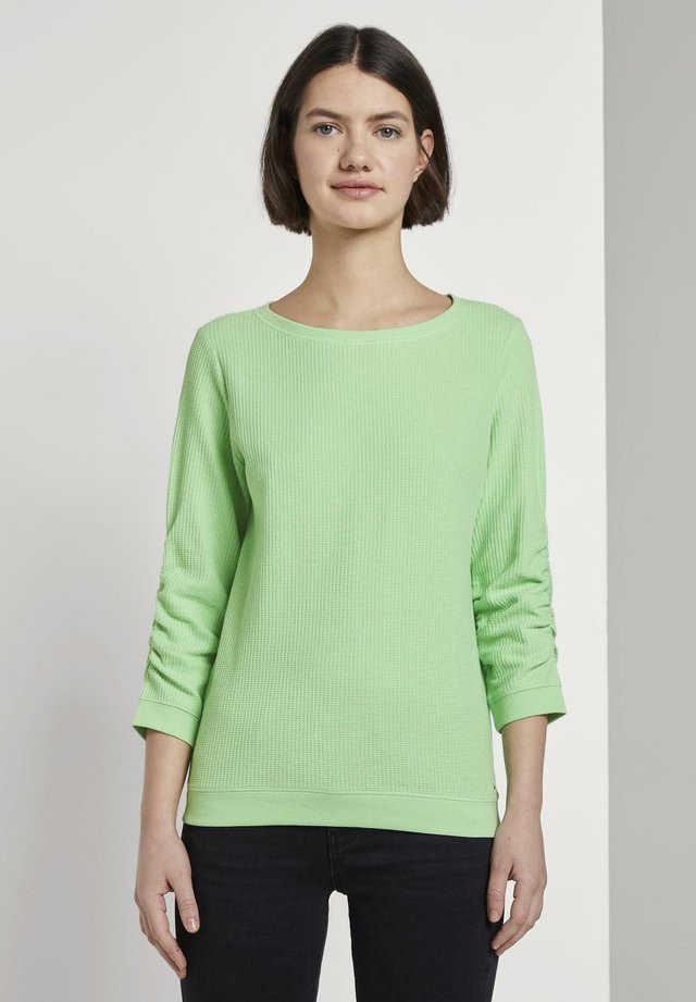 WAFFLE STRUCTURED  - Jersey de punto - soft neo green