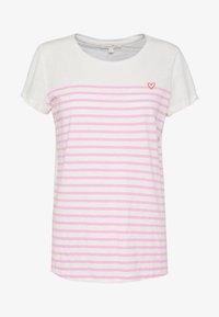 TOM TAILOR DENIM - SLUB TEE - T-shirt z nadrukiem - rose/white - 4