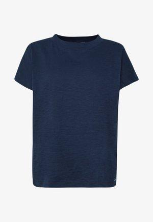 BASIC MOCK NECK TEE - Basic T-shirt - real navy blue