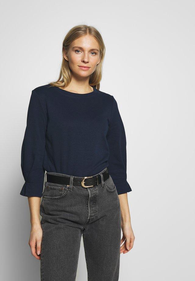 BASIC SWEATER WITH DETAIL - Bluzka z długim rękawem - real navy blue