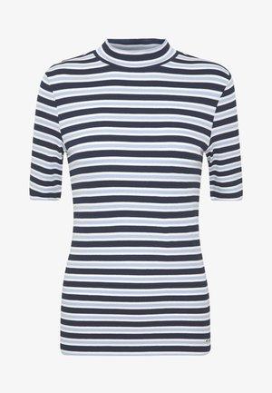 T-shirt z nadrukiem - navy/light blue