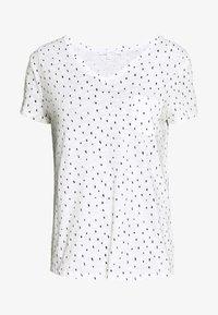 TOM TAILOR DENIM - PRINTED SLUB TEE - T-shirt z nadrukiem - off white minimal - 0