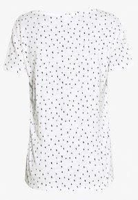 TOM TAILOR DENIM - PRINTED SLUB TEE - T-shirt z nadrukiem - off white minimal - 1