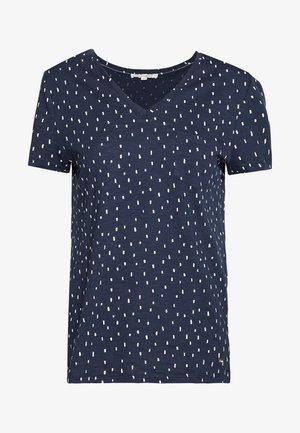 PRINTED SLUB TEE - T-shirt z nadrukiem - dark blue