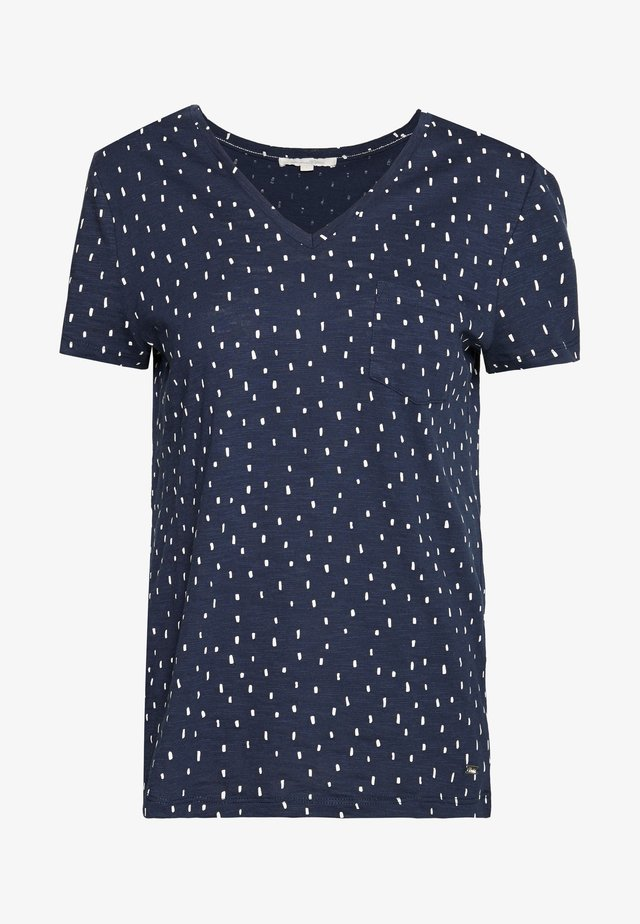 PRINTED SLUB TEE - Print T-shirt - dark blue