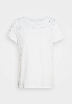 SHIFFLI MIX TEE - T-shirt basic - off white