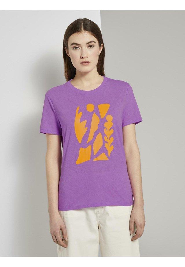 T-Shirt print - light berry