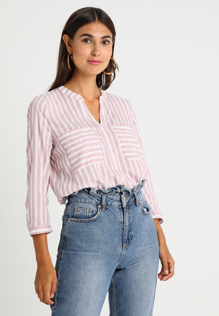 TOM TAILOR DENIM - STRIPED BOXY - Blouse - dusty rose