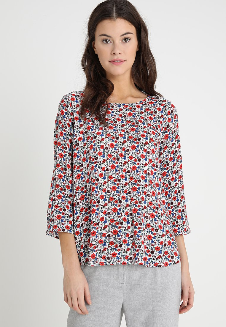 TOM TAILOR DENIM - PRINTED WITH BACK DETAIL - Bluse - flower off white