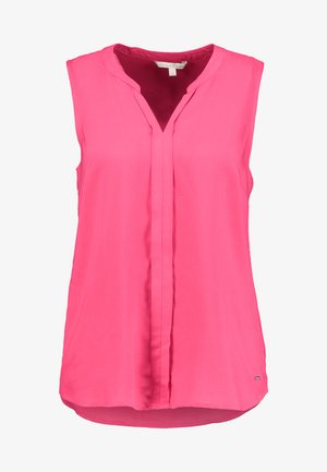 SLEEVELESS OPEN NECK  - Bluse - intense pink