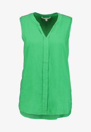 SLEEVELESS OPEN NECK  - Blouse - strong green